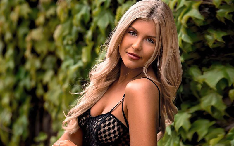 slavic woman for marriage in black top